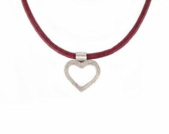 Herzanhänger aus Silber