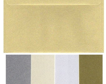 C5 Metallic Envelopes x 20 Pieces  Large A5 230mm x 162mm  9 x 6.5 inches Various Colours 120gsm Wedding Invitations 120gsm