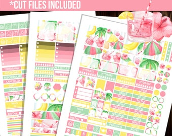 Holiday planner stickers, Weekly kit printable stickers, Erin Condren horizontal planner stickers, Full box stickers - STC035