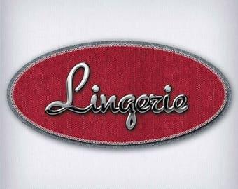 Sticker style Denim lingerie 005 door sign