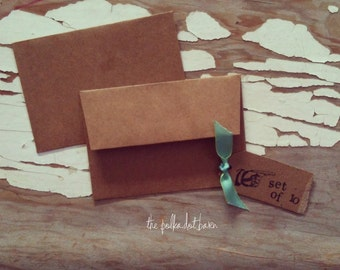 mini kraft envelopes, 4x2 set of 10