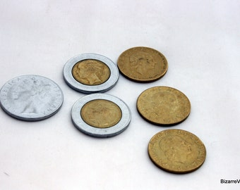 Vintage Assorted Coins for Crafting, Vintage Italy Lire Coins for Collectors, Crafting Jewelry Making Supply Coins, Circulated Coins