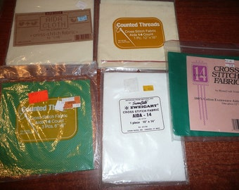Zweigart, Other Cross Stitch Aida Fabric Packages 14 Count