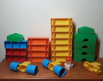 This Fisher Price construction and driving set holds a mystery: It's obvious that it's lots of fun, but but why is it not from the 1970s?