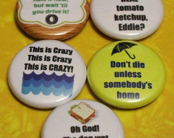 """National Lampoon's Vacation Set of 5 - 1"""" Pinback Buttons"""
