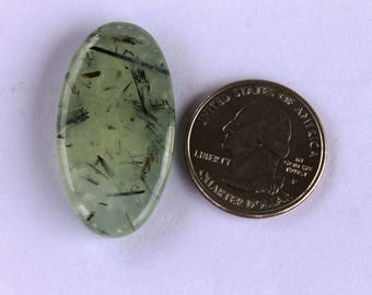 Green Prehnite Cabochon ,46.8CTS 37x19x6 MM Prehnite Mountain cabochon,Natural  Prehnite stone Qualiity for Pendants,Rings, Jewelry Supplies