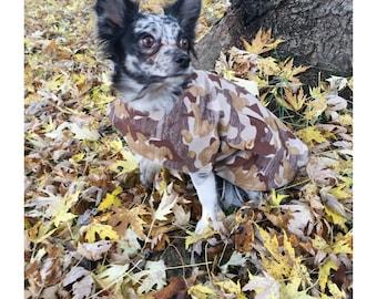 Doggie Fleece Lined Camo Coat/Pet Fleece Libed Camo Coat