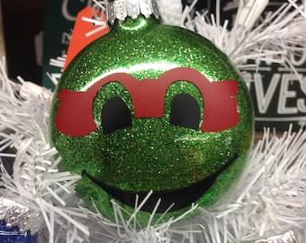 Holiday Christmas Tree Ornament Teenage Mutant Ninja Turtle Raphael Red