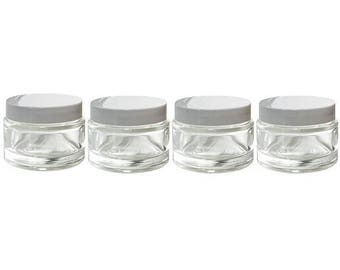 Thick glass jars Etsy