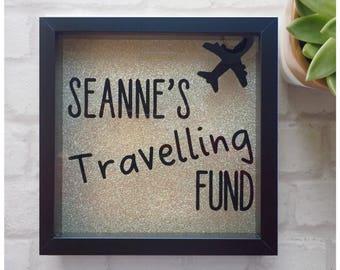 Money box, fund frame, travelling fund frame, savings box