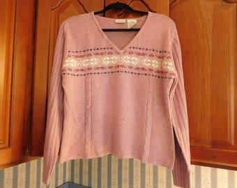 Vintage Purple Sweater Size LX by St. Johns Bay