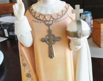 "Infant Jesus of Prague Vintage  Figure 11 1/2"" tall"