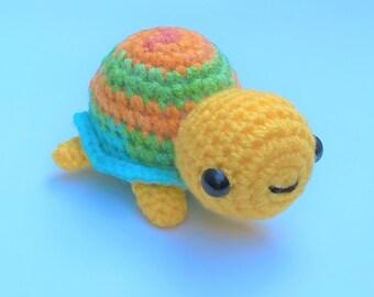 Amigurumi Turtle- Crochet Handmade Doll, Soft Toy , Decoration, Plush , Kawaii, Super Cute, Marine Animal, Tortoise , Kawaii Turtle
