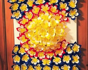 Felt Flower Colorado Flag