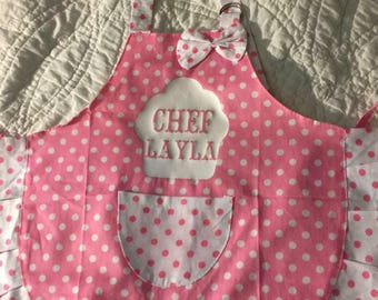 Personalized girl's apron