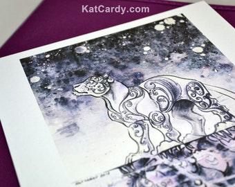 Nightfall - Limited Edition A4 Print - Black/White Panther - Duality - Only 20 made