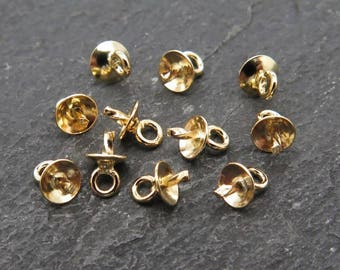Gold Filled Cup and Peg Drop 3mm
