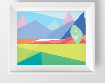Scandinavian Art, Printable Art, Abstract Art Print, Modern Art, Wall Decor, Wall Art, Digital Download, Colorful nursery print