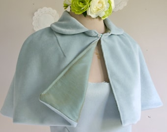 Something Blue short fitted cape women short capelet retro style cape bridal cape