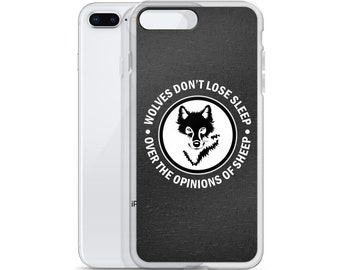 Wolves art iPhone Case - Black and White wolf illustration iPhone Case Gift for him