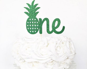 One Cake Topper / Pineapple One Cake Topper / 1st Birthday Cake Topper / Party Like a Pineapple First Birthday / Smash Cake Topper