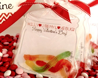 Love Bug Valentines Day Cards - DIY Personalized - 4 Different Sayings