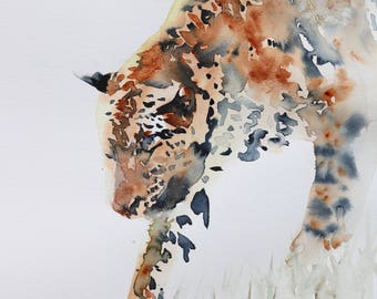 """Stealth ORIGINAL watercolour painting on heavy arches cotton paper 12"""" x 16.5"""""""