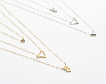 Three Tier, Triangle Necklace Layered Set
