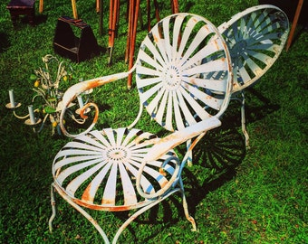 iron chairs etsy