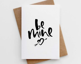 Valentine' Day Card - Card for Girlfriend - Card for Boyfriend - Valentine's Card for Wife - Be Mine Valentines Card - Card For Valentine's