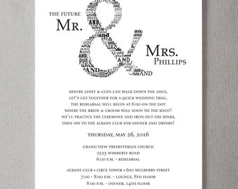 Sophisticated Ampersand Rehearsal Dinner PRINTABLE Invitation