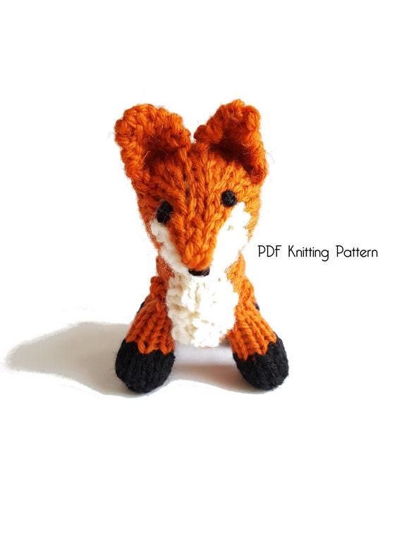 Knitted Tiny Fox Pattern Pdf Pattern Knitting Pattern Diy
