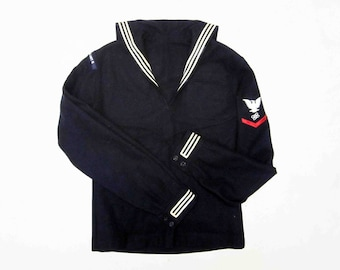 Vintage U.S. Navy Wool Jumper with Rating Patch. Circa 1950's - 1960's.