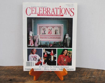 Celebrations To Cross Stitch and Craft A Leisure Arts Publication Christmas 1992