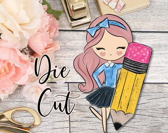 Die Cut- Cute Dolls- School Girl