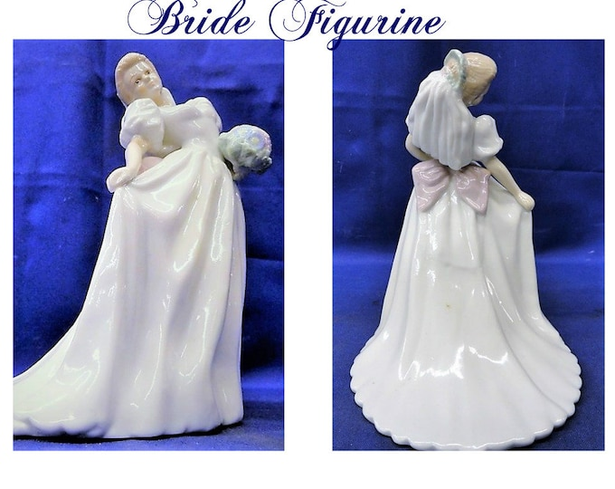 Wedding Bride Porcelain Figurine,  in Excellent Condition,  With Reduced Shipping