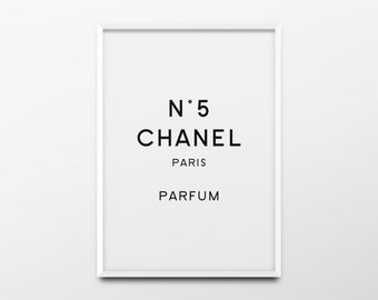 "Coco Chanel Print ""Chanel Paris Parfum"" Chanel Decor, Chanel Poster, Chanel Quote, Chanel Wall Art, Fashion Poster, Fashion Print, Printable"