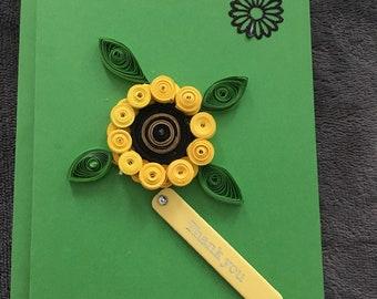 Sunflower thankyou card