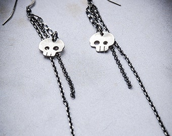 SKULL DROPS earrings