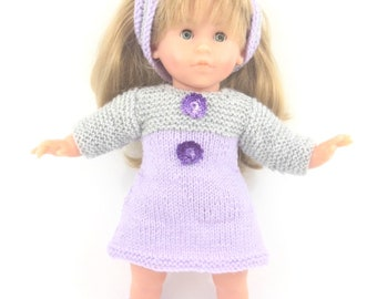 Doll clothing - purple and grey