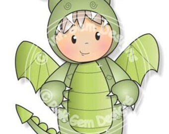 Digital (Digi) Dragon Josh Stamp, Little Boy