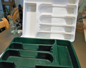 Rubbermaid divided storage cutlery trays, vintage
