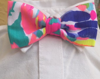 Lilly Pulitzer Little Boy Gumbo Limbo Bow Tie