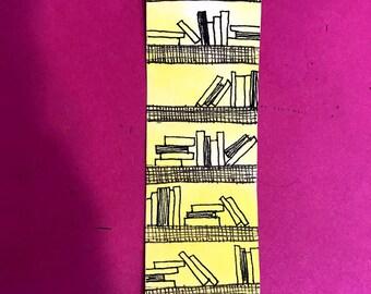 Bookshelf doodle Bookmard