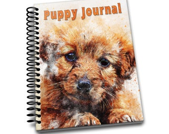 Puppy Journal: 150 lined pages journal and notebook | 8x10 inches | Dog Lovers | Puppy