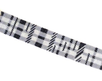Modified Plaid Cuff Bracelet