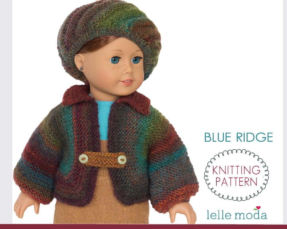 18 inch Doll Winter Jacket, Knitting Pattern, for American Girl Doll ...