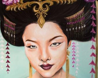Wu Zetian (Chinese empress) by Marisa Jiménez LIMITED EDITION 1/100.