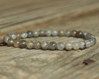 Labradorite Mala Bracelet, Strength, Wrist Mala, Crystal Healing, Base Chakra, Yoga Bracelet, Meditation Jewelry, Prayer, Mantra, Reiki