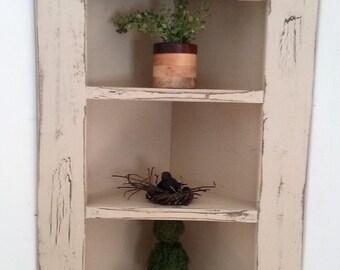 Hanging corner cupboard  / with 2 shelves